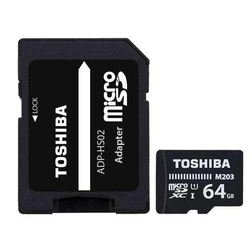 TOSHIBA microSD 64GB M203 UHS I U1 with adapter 4047999410966 - 1