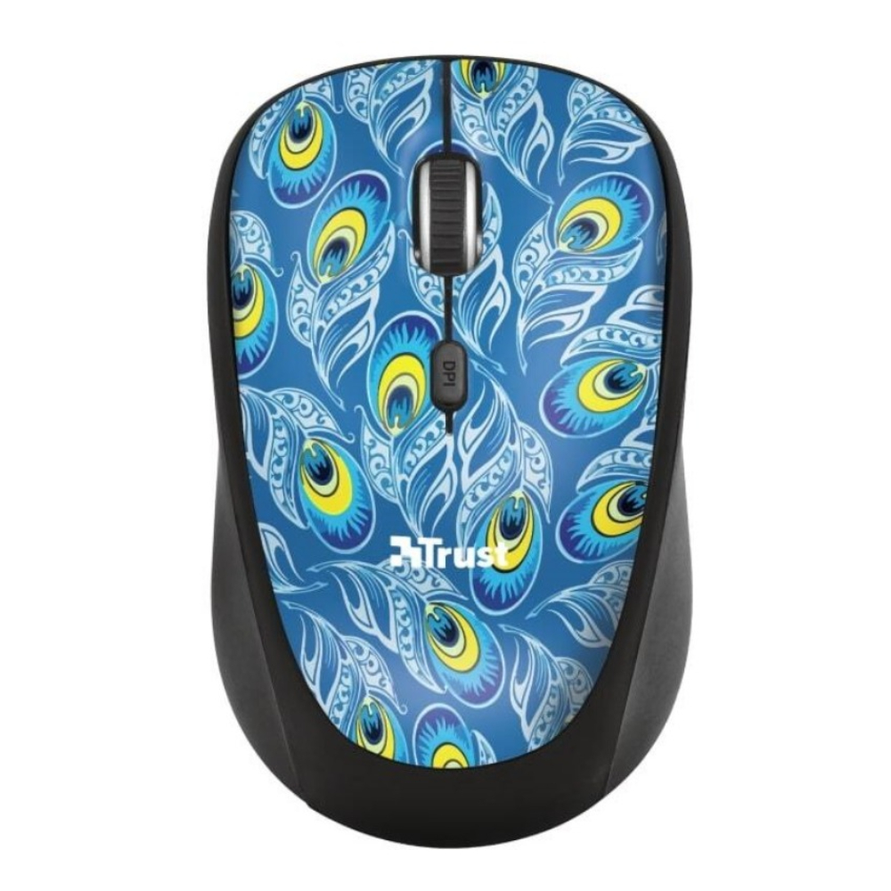 Mouse Trust Yvi Peacock Wireless 8713439233889 - 1